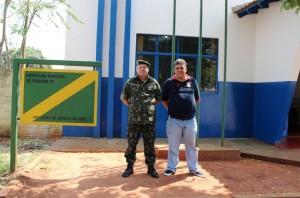 Capitão Goulart e o Secretário da JSM de Itaquiraí Valdemar Moller, anunciam prazo para alistamento militar