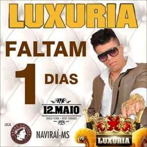 O assunto do momento na cidade de Naviraí é sobre o mega show nacional da Banda Luxuria que será realizado amanhã.