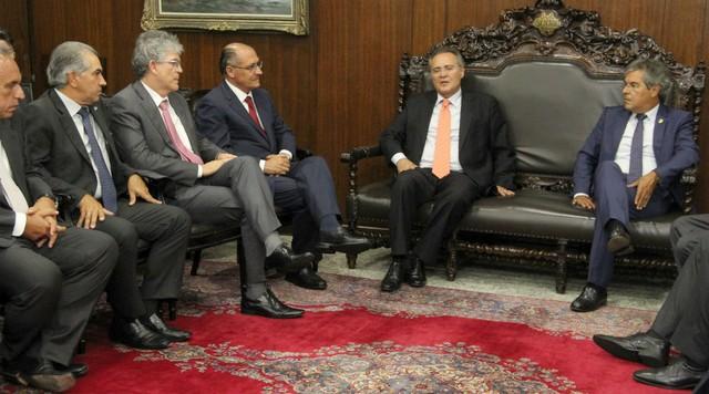 Encontro com o senador Renan Calheiros, presidente do Senado – Foto: Chico Leite