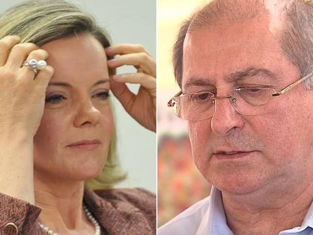 PF cumpre mandado de busca na casa da senadora Gleisi e prende o marido dela, o ex-ministro Paulo Bernardo - Foto: Antonio Cruz / Agência Brasil e Reprodução EP