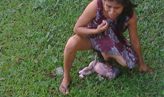 [1 / 1] - Mulher indígena dá a luz em jardim após ser expulsa de hospital por não falar corretamente o idioma - Foto: Divulgação